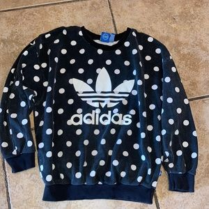 Vintage Adidas Polka Dot Sweatshirt Size Small